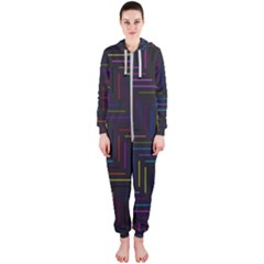 Lines Line Background Hooded Jumpsuit (ladies)