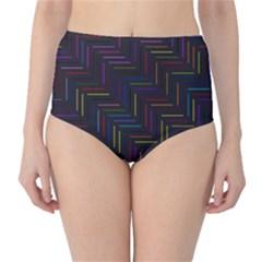 Lines Line Background High Waist Bikini Bottoms