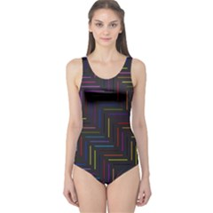 Lines Line Background One Piece Swimsuit