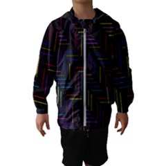 Lines Line Background Hooded Wind Breaker (kids)