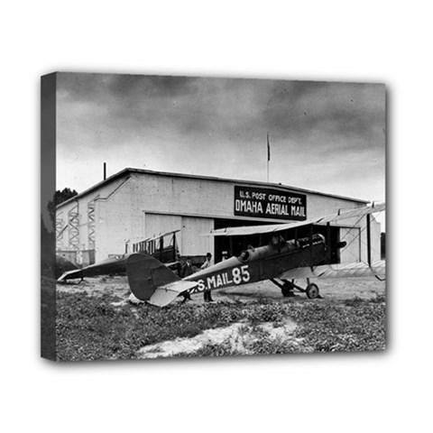 Omaha Airfield Airplain Hangar Canvas 10  X 8