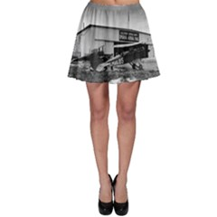 Omaha Airfield Airplain Hangar Skater Skirt