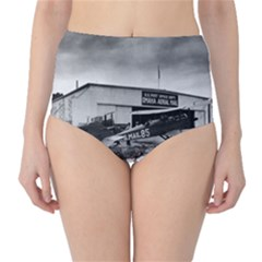Omaha Airfield Airplain Hangar High Waist Bikini Bottoms