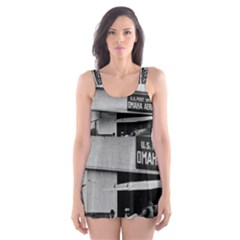 Omaha Airfield Airplain Hangar Skater Dress Swimsuit