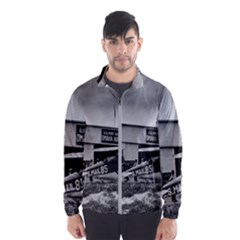 Omaha Airfield Airplain Hangar Wind Breaker (men)