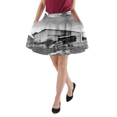 Omaha Airfield Airplain Hangar A Line Pocket Skirt