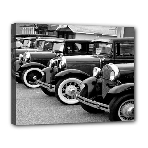 Vehicle Car Transportation Vintage Canvas 14  X 11