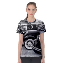 Vehicle Car Transportation Vintage Women s Sport Mesh Tee