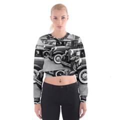 Vehicle Car Transportation Vintage Cropped Sweatshirt