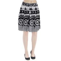 Vehicle Car Transportation Vintage Pleated Skirt