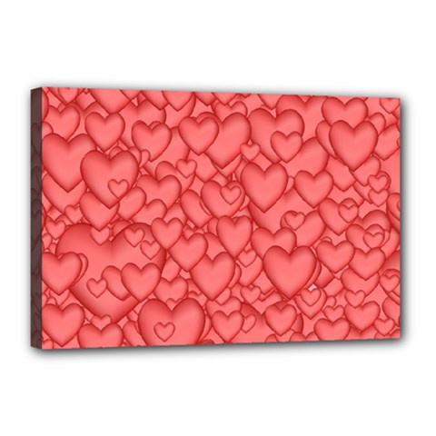 Background Hearts Love Canvas 18  X 12