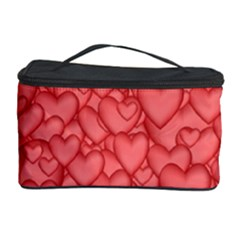 Background Hearts Love Cosmetic Storage Case