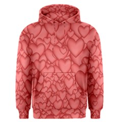 Background Hearts Love Men s Pullover Hoodie