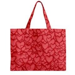 Background Hearts Love Zipper Mini Tote Bag by Nexatart
