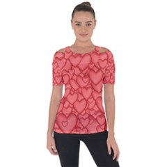 Background Hearts Love Short Sleeve Top