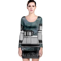 Vintage Car Automobile Auburn Long Sleeve Bodycon Dress