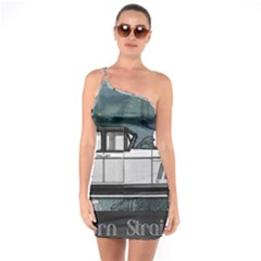 Vintage Car Automobile Auburn One Soulder Bodycon Dress
