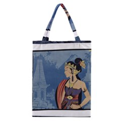 Java Indonesia Girl Headpiece Classic Tote Bag