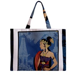 Java Indonesia Girl Headpiece Zipper Mini Tote Bag by Nexatart