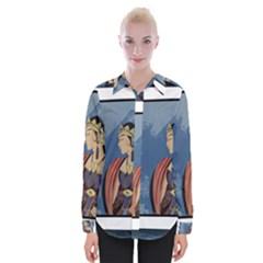 Java Indonesia Girl Headpiece Womens Long Sleeve Shirt