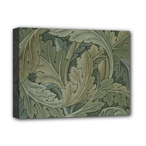 Vintage Background Green Leaves Deluxe Canvas 16  X 12