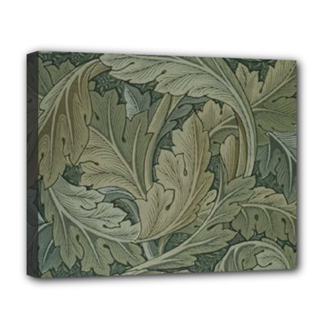 Vintage Background Green Leaves Deluxe Canvas 20  X 16