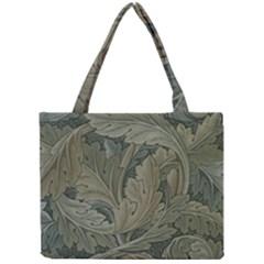 Vintage Background Green Leaves Mini Tote Bag