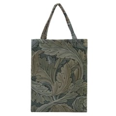 Vintage Background Green Leaves Classic Tote Bag by Nexatart