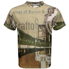 Train Vintage Tracks Travel Old Men s Cotton Tee