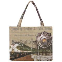 Train Vintage Tracks Travel Old Mini Tote Bag