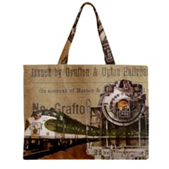 Train Vintage Tracks Travel Old Zipper Mini Tote Bag