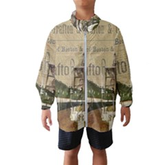 Train Vintage Tracks Travel Old Wind Breaker (kids)
