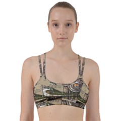 Train Vintage Tracks Travel Old Line Them Up Sports Bra