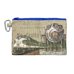 Train Vintage Tracks Travel Old Canvas Cosmetic Bag (large)