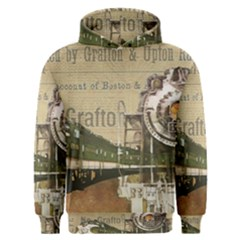 Train Vintage Tracks Travel Old Men s Overhead Hoodie