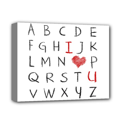 Love Alphabet Deluxe Canvas 14  X 11  by Valentinaart