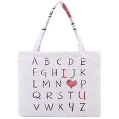 Love Alphabet Mini Tote Bag by Valentinaart