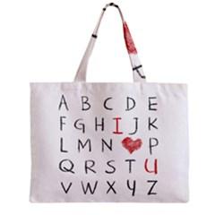 Love Alphabet Zipper Mini Tote Bag by Valentinaart
