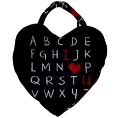 Love Alphabet Giant Heart Shaped Tote by Valentinaart