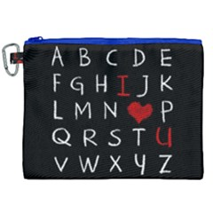 Love Alphabet Canvas Cosmetic Bag (xxl) by Valentinaart
