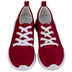 Pink 12 A | Dark Pink Lightweight Sports Shoes White Laces White Eyelets