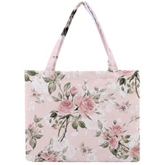 Pink Shabby Chic Floral Mini Tote Bag by 8fugoso
