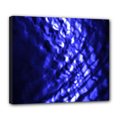 Blue Ripple Deluxe Canvas 24  X 20   by vwdigitalpainting