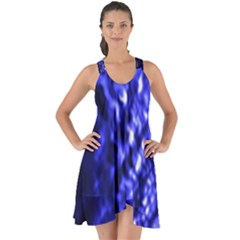 Blue Ripple Show Some Back Chiffon Dress by vwdigitalpainting