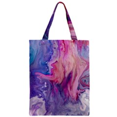 Marbled,ultraviolet,violet,purple,pink,blue,white,stone,marble,modern,trendy,beautiful Zipper Classic Tote Bag by 8fugoso