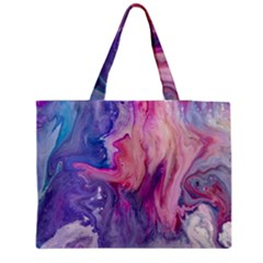 Marbled,ultraviolet,violet,purple,pink,blue,white,stone,marble,modern,trendy,beautiful Medium Tote Bag by 8fugoso