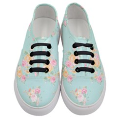 Mint,shabby Chic,floral,pink,vintage,girly,cute Women s Classic Low Top Sneakers