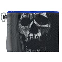 Black And Grey Nightmare Canvas Cosmetic Bag (xxl) by vwdigitalpainting