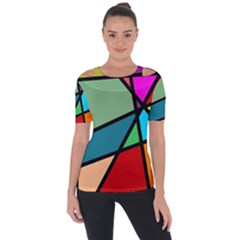 Modern Abstract Short Sleeve Top by vwdigitalpainting