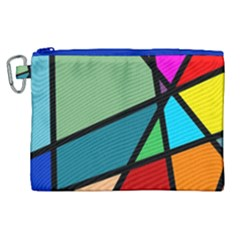 Modern Abstract Canvas Cosmetic Bag (xl) by vwdigitalpainting